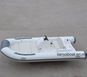 Liya 4.3m Cheap Hypalon Inflatable Boat with Motor for Sale pictures & photos
