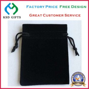 Wholesale Red Jewelry Velvet Pouch with Hot Stamping Logo pictures & photos