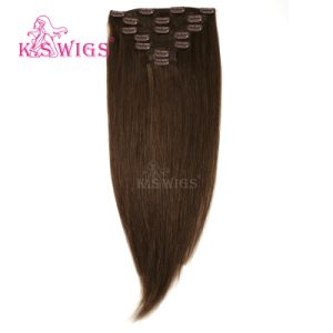 Virgin Human Remy Hair Clip in Hair Extension pictures & photos