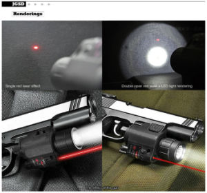 Lightweighted Plastic Housing Red Laser Sight and 200 Lumens CREE Q5 LED Flashlight Combo pictures & photos