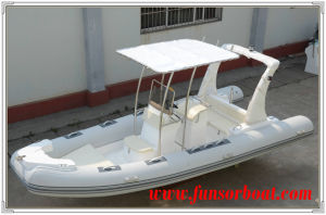 Funsor FRP Inflatable Yacht with Outboard Engine pictures & photos