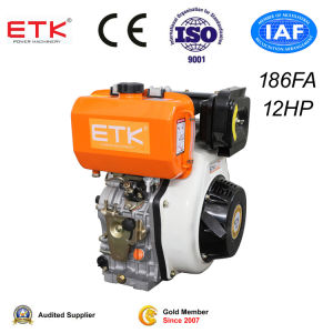 12HP Diesel Engine with CE_Golden _Upper Side pictures & photos