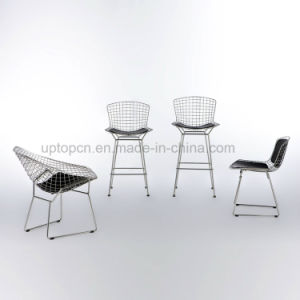 Sled Base Knoll Wire Bertoia Side Steel Chair with Cushion (SP-MC021) pictures & photos