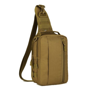 Men′s Travel Single Shoulder Messenger Canvas Chest Sling Bag pictures & photos