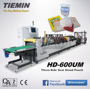 Tiemin Automatic High Speed 3 Side Seal Bag & Pouch Making Machine (Stand Up Pouch From One Web, K Botton Seal) HD-600um pictures & photos