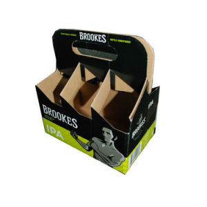 Six Bottle Wine Boxes with Carrier Display Stand Box pictures & photos