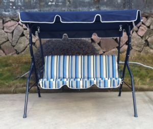 Navy Blue 3 Seater Hot Sales Garden Swing pictures & photos