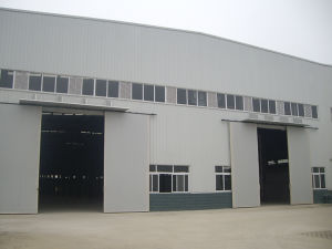 with Sliding Door and Window Light Steel Structure for Workshop/Warehouse pictures & photos