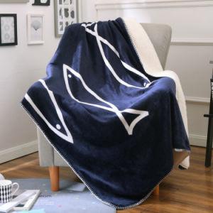 Velvet and Polar Fleece Blanket pictures & photos