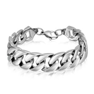 Mens Stainless Steel Extra Large Cuban Curb Chain Bracelet