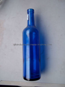 750ml Blue Color Vodka Glass Bottle
