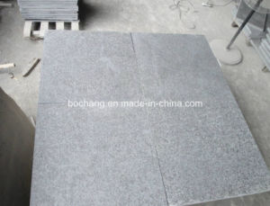 China Black G684 Granite for Flamed Polished Tile pictures & photos