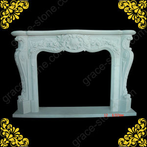 European Style Nice Marble Carved Fireplace (GS-FF-028) pictures & photos