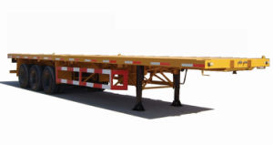 40ft Flattop Semi Trailer / Three Axles Terminal Semi Flatbed Trailer pictures & photos