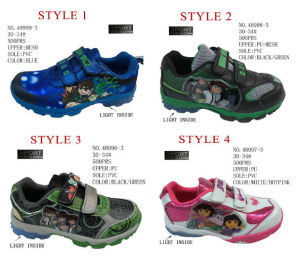 No. 48996 Four Style Children Stock Sport Shoes pictures & photos