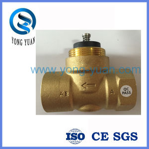 2-Way Brass Motorized Valve Body Electric Valve for Fan Coil (BS-848)