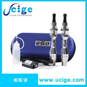 Hottest Selling E Cigarette Case Ee2 Ecig with Stainless Steel Ecig