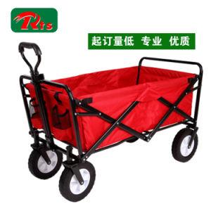 Pulling Along Hand Wagon Cart Beach Folding Cart Fw3017 pictures & photos