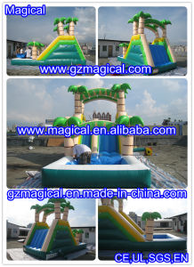Palm Tree Structure Inflatable Water Slide (MIC-873) pictures & photos