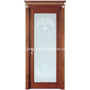 China Made Latest Stain Glass Wood Door with Frames pictures & photos