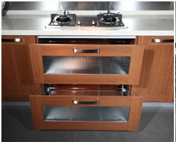 Single-Wall Kitchen Cabinet with Melamine Finish (zg-024) pictures & photos
