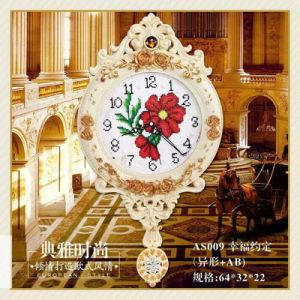 European Creative Wall Clocks Hot Sale Luxury Diamond Clock Wall Clock for Home Wall Decor (AS009) pictures & photos