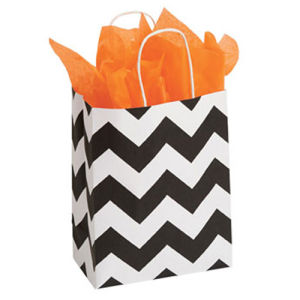 Medium Classic Chevron Paper Shopper pictures & photos