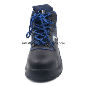 S1p Split Leather PU Injuection Safety Shoe pictures & photos
