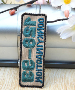 Customed Letter Chapter Embroidery Brand Label pictures & photos