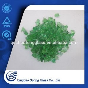 4 mm Crushed Green Clear Glass Granule pictures & photos