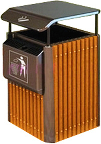 Coffee Colour Outdoor Dustbin for Garden (HW-79A) pictures & photos