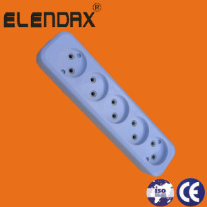 European Style 2 Pin Power Extension Socket (E8005) pictures & photos
