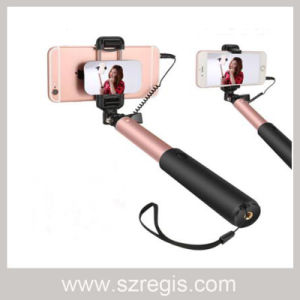 360 Rotation Mobile Phone Monopod Foldable Selfie Stick with Cable pictures & photos
