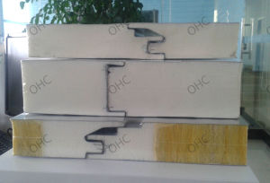 Light Steel Color Corrugated Polyurethane Sandwich Panel pictures & photos