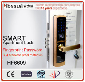 Advanced Technology Fingerprint Scanning Entry RFID Card Door Lock (HF6609) pictures & photos