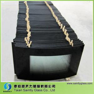 5mm Curved Tempered Safety Glass Panel for Fireplace Door pictures & photos