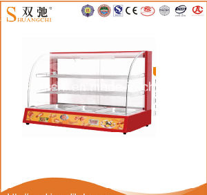 Curved Glass Display Counter Food Warmer Display Equipment pictures & photos