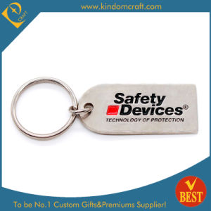 Custom Metal Safety Keychain with Matt Nickel Plating pictures & photos