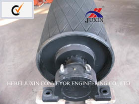 Crown Drum Pulley with Diamond Ceramic Lagging pictures & photos