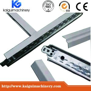 Automatic Metal Steel Sections T Bar 3D Groove Grid Ceiling Profiles Cold Roll Forming Making Machine pictures & photos