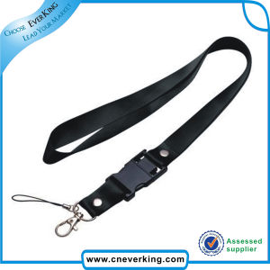 Custom Accrpt Double Clip Satin Ribbon Polyester Lanyards pictures & photos