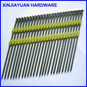 3.08*75mm Electro Galvanized Plastic Coated Strip Nail for Fastening pictures & photos