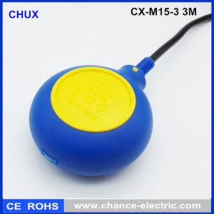 2m Cable Round Type Industry Water Flow Sensor Pump Float Switch (CX-M15-3)