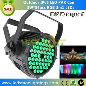 Top Sale DMX LED PAR Lighting 54*3W RGB 3in1 Edison LEDs for Outdoor Using pictures & photos