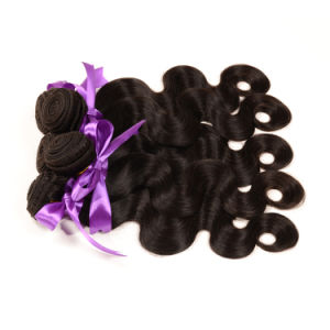Free Shipping Unprocessed 6A Brazilian Virgin Hair Body Wave 3 Bundles, Wavy Brazilian Virgin Remy Human Hair for Black Women pictures & photos
