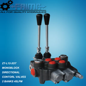 45lpm Hydraulic Monoblock Directional Control Valves with 2 Spools