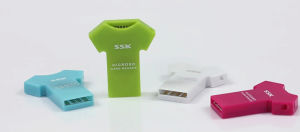 Ssk T-Shirt Mini TF Card Microsd Card Reader pictures & photos