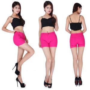 Hot Fashion Lady′s Multicolor Elastic Force Sports Wear Short Pants Wholesale