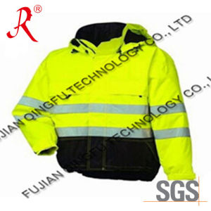 Winter Waterproof Reflective Safety Jacket/Coat with Hood (QF-534) pictures & photos