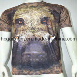 3D Sublimation Printed Round Neck T- Shirt for Man pictures & photos